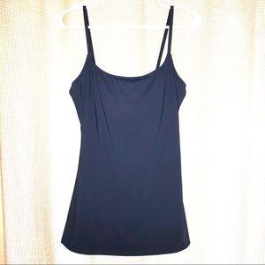 Calvin Klein A line classic swim dress blue